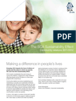 SCA Sustainability Effect - Community Relations 2011/2012