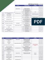 2009 FCW Editorial Calendar