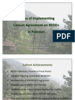 Status of Implementing  Cancun Agreement on REDD+ in Pakistan
