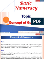 Basic Numeracy Concept Geometry