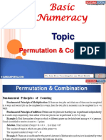 Basic Numeracy Permutation Combination