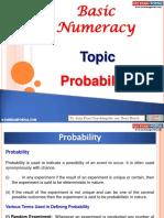 Basic Numeracy Probability