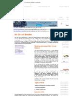 Air Circuit Breaker Air Blast Circuit Breaker