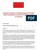 Copyright Protection of Design- Approach of Italian Courts and Italian L...