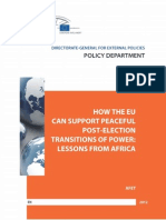 How the EU Can Support Peaceful Post-Election Transitions of Power