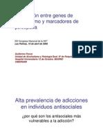 genes de alcoholismo y marcadores de psicopatía