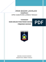 Laporan Banleg Pembahasan Ranperda Pinjaman Daerah_MS III 2012