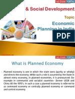 20(B) Economic Planning in India
