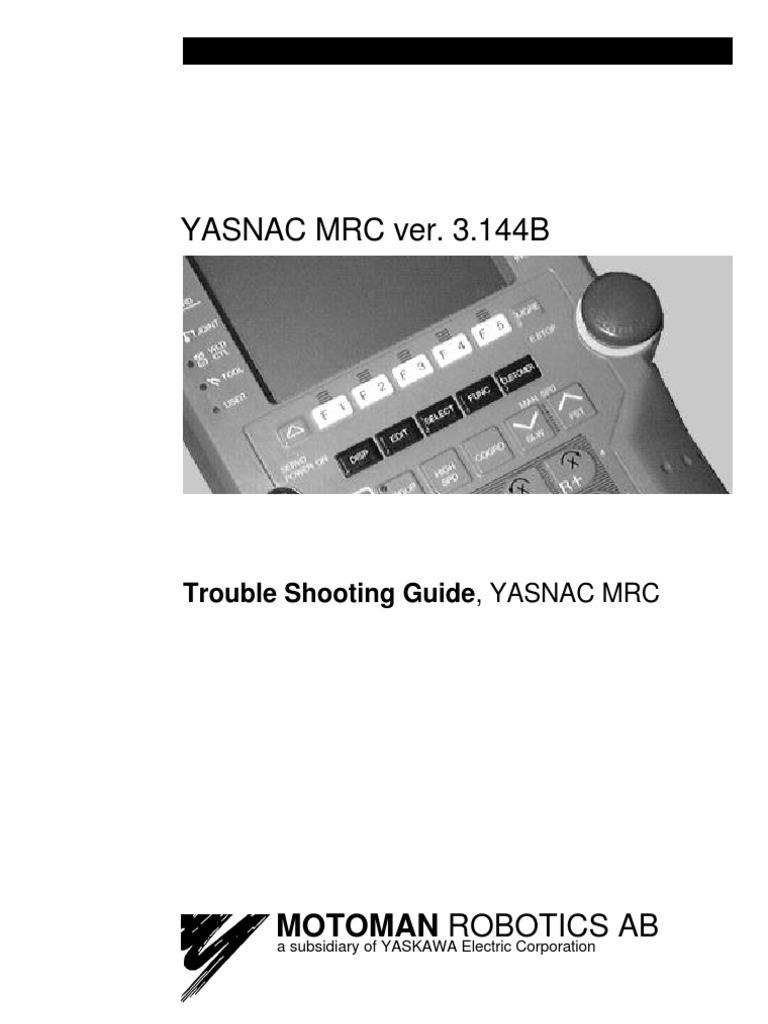 trouble shooting manual for mrc electrical wiring electrical rh scribd com Motoman Programming Motoman Programming