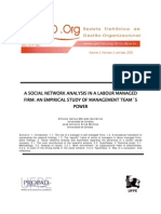 Estudio de redes sociales en una empresa