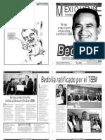 Versión impresa del periódico El mexiquense 16 de noviembre 2012