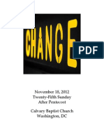 Bulletin, Sunday, November 18., 2012
