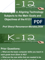 Curriculum Alignment of Computer Technology Subjects in K12 Program (Philippine Setting)
