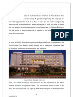 Internship Project on Recruitment and Selection at Lemon Tree Hotel