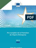 Prix européen de la Promotion de l'Esprit d'Entreprise 2012