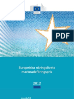 Europeiska näringslivets marknadsföringspris 2012