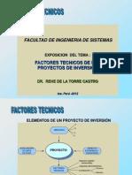 FACTORES TECNICOS