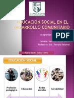 educación social en el desarrollo comunitario LISTO