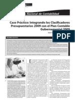 Caso Práctico - Integrando los Clasificadores del Plan Contable Gubernamental 2009