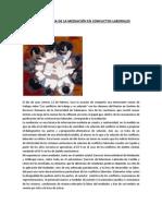 LA PECULIAR TEXTURA DE LA MEDIACIÓN EN CONFLICTOS