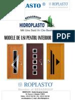 Modele de usi interior/exterior ROPLASTO