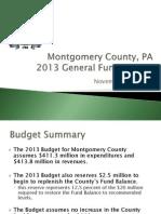 Montco 2013 Budget presentation