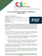 Appel et position du CST [16/11/2012]