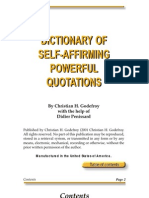 Dictionary of Self-Affirming Powerful Quotations