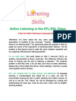 Active Listening in the EFL ESL Class