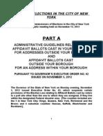 Affidavit Guidelines A