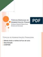 Tópicos Especiais de Administração Financeira