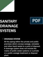 Sanitary Drainage Systems