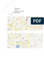 address, and map example for business project