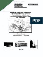 Estudio de Suelos y Resist Elect Proy Planta CADAFE PLC
