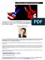 Comment Lancer Un Blog en Anglais Et en Français