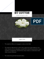 Bacillus thuringiensis Cotton Bt Cotton pptx