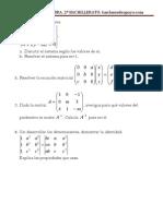 Examen de Álgebra