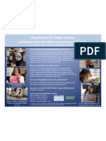 Poster #026 - Possibilities (A Video Series):Individuals with Disabilities Living Meaningful Lives