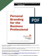 "eBook Gratuit ""Personal Branding for the Business Professional"" de Chris Brogan"