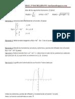 Examen de Derivadas y aplicaciones