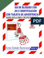 norma -estandar operacional sistemas de Bloqueo Con Candado e Identificacion Con Tarjeta de Advertencia-equipos,Instalaciones y Circuitos de Procesos