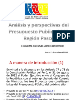 Analisis y Perspectivas Del Pp 2013 - Region Pasco