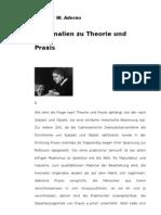 Adorno - Marginalen Theorie Praxis