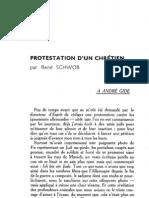 Esprit - 8 - 4 - Schwob, René - Protestation d'un chrétien