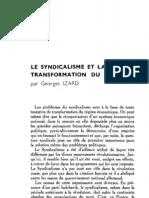 Esprit - 8 - 7 - Izard, Georges - Le Syndicalisme et la transformation du régime