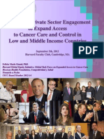 Enhancing private Sector Engagement to Expand Access to Cancer Controlin LMICs. 5 sep 2012