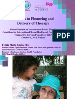 Barriers to Financing and Delivery of Therapy (4 de Octubre, 2012)
