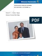 Informe Misionero a Noviembre 2012 - Cedritos, Bogota - Distrito 2 -