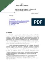 Saneamento Do Sistema Financeiro - Ultimos 25 Anos No Br