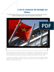 Los Resagos de La Censura de Google en China